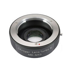 Upgraded version Lens turbo II adapter for Minolta MD lens to m43 GH GX GF OM-D
