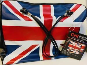 "CHI British Invasion Tote, Ceramic Dual Voltage 1"" Flat Iron & Sik Infusion Set"