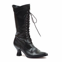 Ellie 253-AMELIA Black 2.5 inch VICTORIAN BOOT