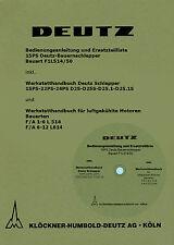 Deutz Literatur für den kompletten Traktor auf CD für F1L514 /50