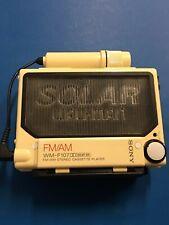 "SONY WM-F107 ""Solar Walkman"" Cassette Player FM/AM Radio Fort Parts"