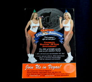 2003 Mini Poster 20th Anniversary Party in Las Vegas Sexy Hooters Girl Promo