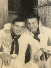 """Commrades"" Vintage Sailor Couple Real Photograph Gay Interest Beefcake"