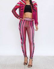 Sexy 2Pc Tracksuit in Fuchsia Pant Set Ladies Club or Sport Wear