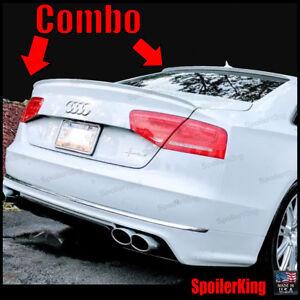 SpoilerKing Fit Audi S8 13-18 D4 Rear Roof Spoiler & Trunk Wing Combo 284R/244L