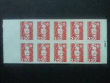 Carnet 1991, 10 sellos, Marianne de Briat 2,50 F, Albertville, Nuevo, CA2720-C 1