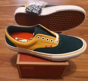 Vans Mens Era Pro Prime Atlantic Gold Skate Shoes Size 10.5 yellow green new
