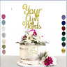 Personalised Cake Topper Any Word Name Custom Gold Silver Rose Gold Customised