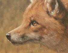 FOX ORIGINAL CLASSICAL OIL PAINTING by Award Winning UK Artist JOHN SILVER. BA