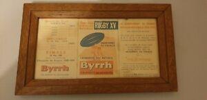RARE PROGRAMME RUGBY CHAMPIONNAT DE FRANCE 1958 - 1959 RUGBY A 15 PUB BYRRH