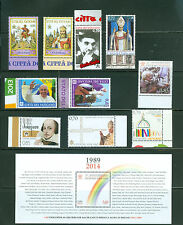 Vatican City 2014 Compete MNH Year Set