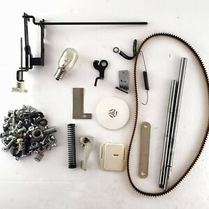 Brother XL2021 Sewing Machine MISC PARTS - spool cap SCREWS bulb BELT bar