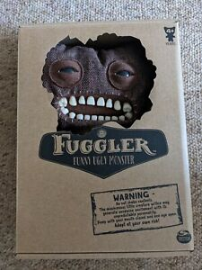Fuggler Chase Mr Buttons Brown Burlap  Funny Ugly Monster Soft Toy New Rare