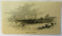 small 1878 magazine engraving ~ VIEW OF HUMATIA ~ Paraguay