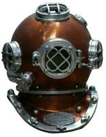Brown Antique Diving helmet Mark V Vintage Morse Divers Scuba Navy Helmet 18""