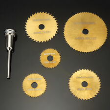 Drillpro SW-B2 6pcs HSS Circular Titanium Coated Saw Blades Set for Rotary Tools