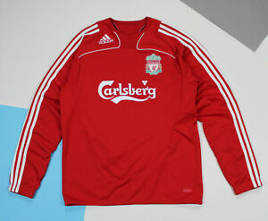 FC Liverpool 2008 - 2009 Adidas Training Sweat Top Red (size M*)
