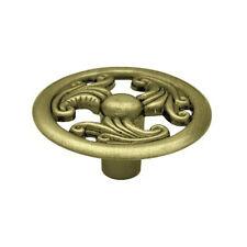 "P796000C-Ab 1 1/2"" Ornate Pattern Antique Brass Cabinet Drawer Knob"