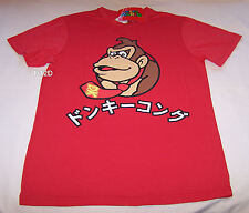 Nintendo Super Mario Donkey Kong Mens Red Printed T Shirt Size M New
