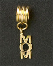 MOM Dangle Bead Family European Charm Bracelet Gold Plated Stainless Steel Gifts