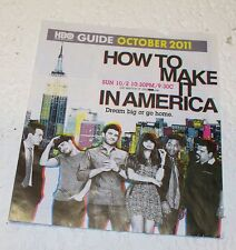 HBO Guide Booklet Octobber 2011 How To Make It In America Cool Collectable
