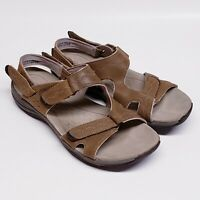 Clarks Privo Women's Sandals SIZE 9M Brown Adjustable Slingback