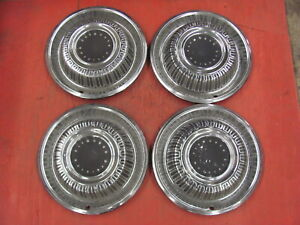 "1969 69 Plymouth Hubcaps Hub Caps Set of 4 Original FURY Roadrunner 15"" MOPAR"