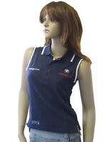 New Henri Lloyd BMW Oracle Ladies Sailing Golf Tennis Pique Polo Shirt Navy L