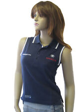 New Henri Lloyd BMW Oracle Ladies Sailing Golf Tennis Pique Polo Shirt Navy L