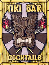 Tiki Bar Cocktail, stile retrò in metallo Insegna/Placca uomo grotta muro PUB BAR