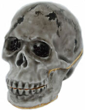"SKULL  "" PERFECT FOR HALLOWEEN "" BEJEWELED & ENAMEL TRINKET BOX  #4024"