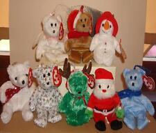NEW TY Christmas Jingle Tree or Bag Hangers Santa Snowman Halo Holiday Ted ETC 1