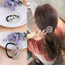 Women Elastic Hair Ties Band Ropes Ring Ponytail Holder Accessories Fashion