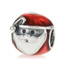 Authentic Pandora Jolly Santa Charm W/ Pandora TAG & HINGED BOX #791405ENMX