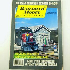 Railroad Model Craftsman Magazine January 1994 Model Trains Carstens Publishing