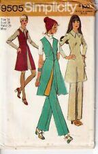 Simplicity Sewing Pattern Mini Dress Waistcoat Trousers 16 9505 Vintage UNCUT