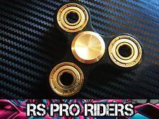RS PRO RIDERS ™ BLACK & GOLD Fidget dito Spinner CERAMIC Si3N4 CUSCINETTO ibrido