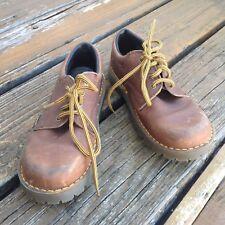 Vintage Dr Martens Docs Brown Oxford Childs Shoes UK 13 Leather England 6378