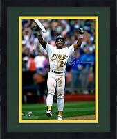 Ricky Henderson 1997 Psa Dnahanded signed 8X10 photograph