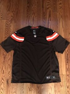 NIKE MENS CLEVELAND BROWNS CUSTOM GAME HOME BROWN JERSEY - PUT YOUR NAME ON IT!