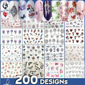 Nail Art Stickers -Water Decals Flowers Lace Tribal  Jewels Feathers Butterfly🌸