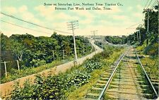 Interurban Line, Northern Texas Traction Co, Between Fort Worth & Dallas TX