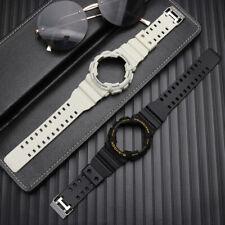 Para el G-shock GA100 GA-110 GD120 De Silicona Para hombres Reloj Correa Con Bisel Impermeable