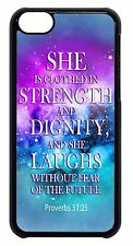 For Apple iPod 4 5 6 Christian Bible Verse Quote Galaxy Pattern Back Case Cover