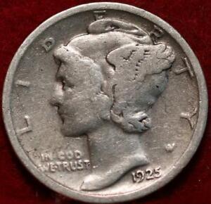 1925-D Denver Mint Silver Mercury Dime