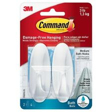 Command Designer Hooks With Water Resistant Strips 2 Hooks,4 Medium Strips