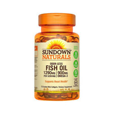 Sundown Naturals Odorless Fish Oil 1290 mg, 900 mg Omega-3, 72 ea
