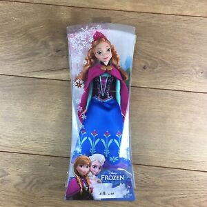 "New Disney Frozen Sparkle ANNA  Doll 12"" Classic Mattel Retired 2013 Ages 3+"