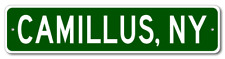 CAMILLUS, NEW YORK City Limit Sign - Aluminum