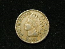 SUMMER SALE!! XF 1901 INDIAN HEAD CENT PENNY w/ DIAMONDS & FULL LIBERTY #73s
